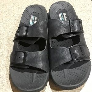 SKECHERS BLACK OUTDOOR LIFESTYLE SANDALS NWOT (9)